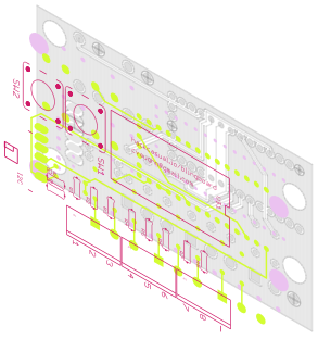 Isometric view of the board layers